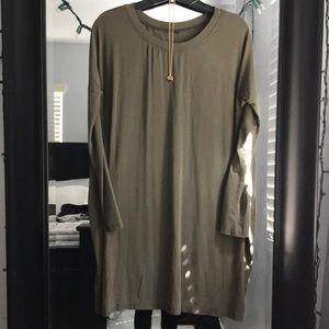 Dresses & Skirts - Army green maternity dress